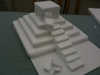 A Picture Of Model Ziggurat That Shows The Levels